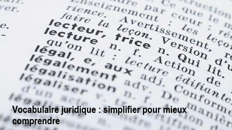 Loi. Vocabulaire juridique : simplifier pour mieux comprendre