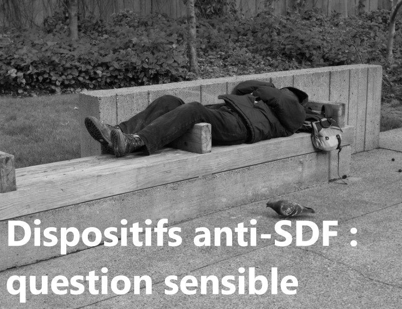 dispositifs anti-SDF : banc avec accourdoirs