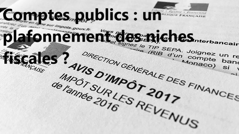 Loi. Comptes publics : un plafonnement des niches fiscales ?