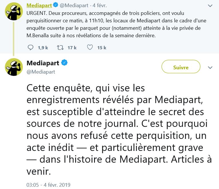 Tweet Mediapart