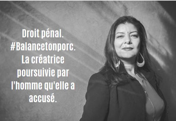 Droit pénal. #Balancetonporc. La créatrice poursuivie par l'homme qu'elle a accusé.