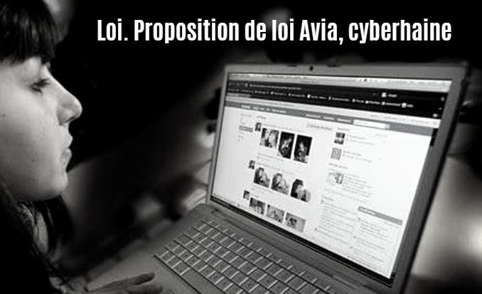 Loi. Proposition de loi Avia, cyberhaine